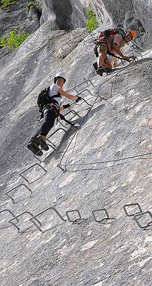Klettersteigkurse Fortgeschrittene