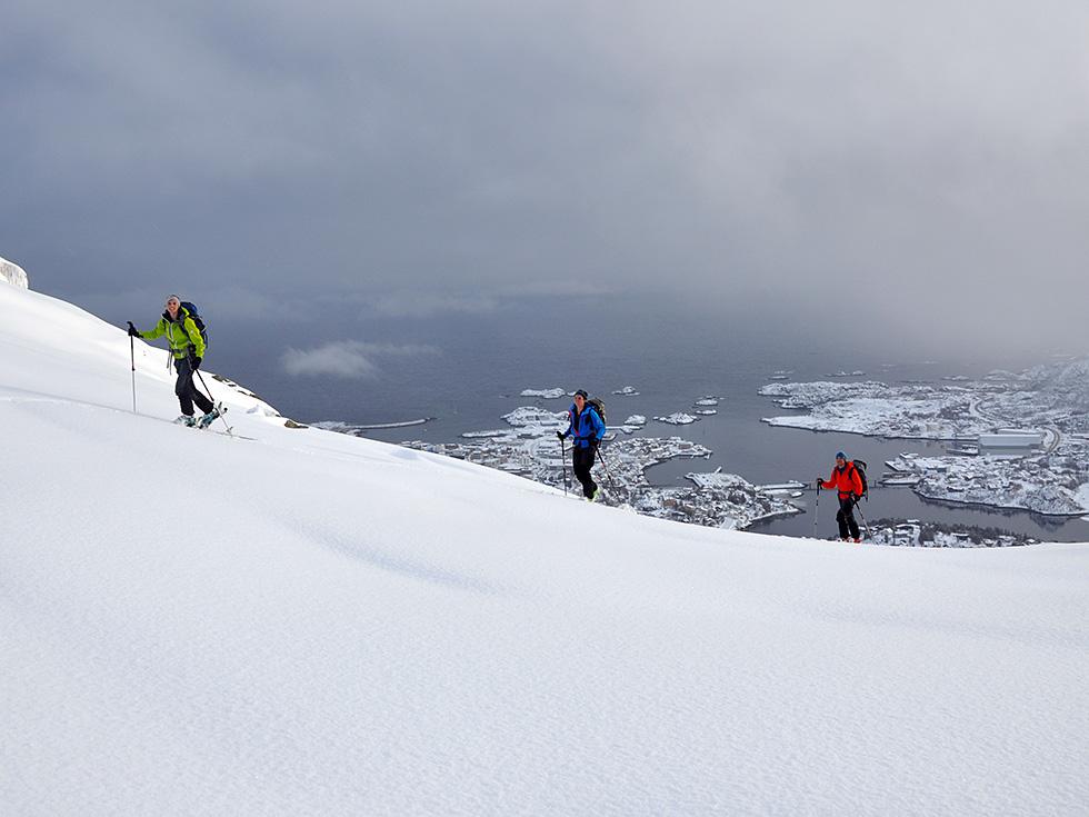 Lofoten Geführte Skitouren Bergführer Alpinschule Alpinstil