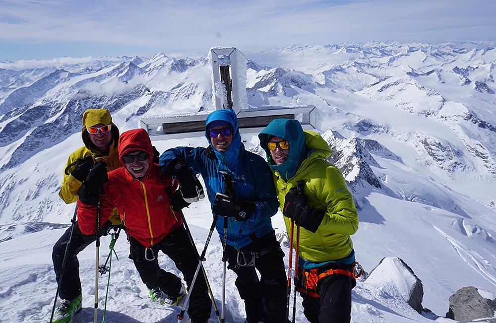 Hoch Tirol mit Bergführer